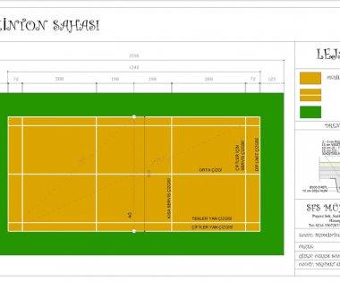 Badminton Sahası